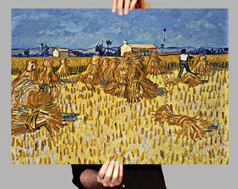 Poster 50x70 cm Corn Harvest in Provence - Vincent van Gogh Digital