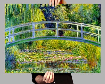 Poster 50x70 cm Japanese Bridge - Claude Monet Digital