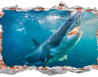 Sea Predator Shark Wall Sticker, Wall Decals