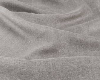 """Linen Fabric by the yard - made in N. Europe - Medium Weight - Width 19"""" (50 cm) for towels 19"""""""