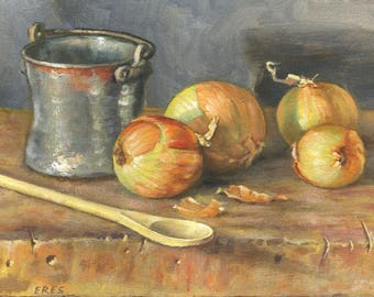 Onions with Bucket and Ladle