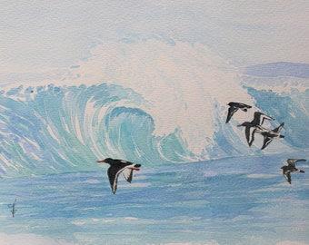 "Watercolor: ""birds of the shore"""