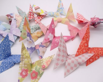 Ready to ship!50 Multicolored Colorful Origami paper butterfly,Washi Chiyogami,Cute Origami ,wedding,party,Decoration,Card