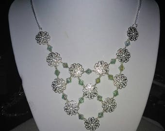 Sterling Silver big necklace