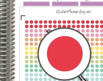 Rainbow Dot Circles Planner Stickers Dot Circles Stickers Erin Condren Planner Happy Planner Rainbow Circles Stickers Round Stickers  (ic1)