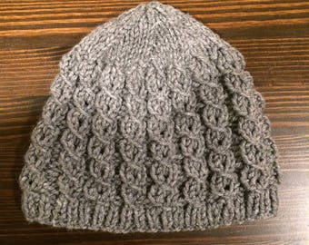 Gray Knitted Stocking Cap