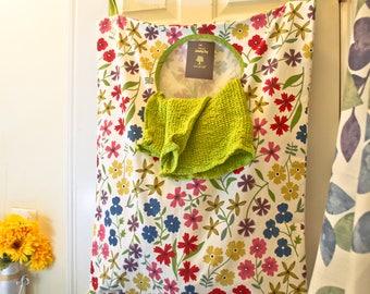 Laundry bag/ cotton bag/Hanging Laundry bag/wall laundry bag/big laundry bag/Hanging hamper laundry bag