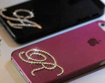 Custom made swarovski crystal initial phone case! Bling! iphone, android, any phone!