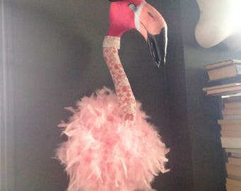 Faux taxidermy Flamingo