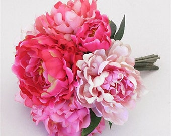 Mix of Light and Dark Pink Peonies