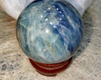 Blue Kyanite Sphere Ball- Sphere healing Reiki Natural Stone 45 MM To 50 MM