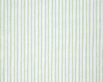 SALE Slipper Roses - Simple Ticking Green -  Cotton Fabric - Dena Designs - Free Spirit Fabrics