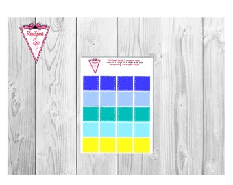 Printable 3/4 Quarter Box White Dotted - Functional Stickers w/Cut Line