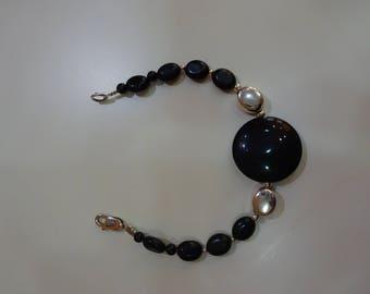 Bracelet sterling silver Onyx
