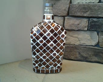 Glass Tile Mosaic Bottle