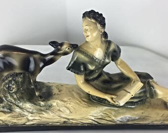 sculpture art deco authentic 1930 signed according A Gori wife and DOE.