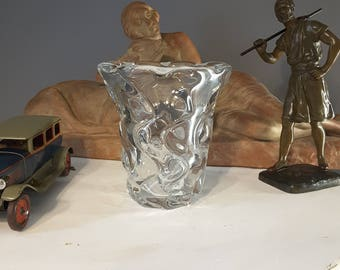 Crystal Cross of Lorraine France vase 1953 ORION DAUM - Collection