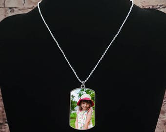 Personalised Photo Dog Tag Necklace