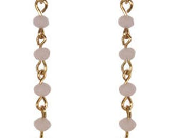Lili light pink and blue earrings