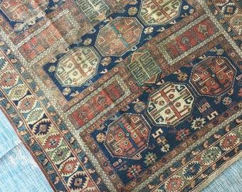 3'10'' x 4'9'' Antique Persian Rug **Axel**