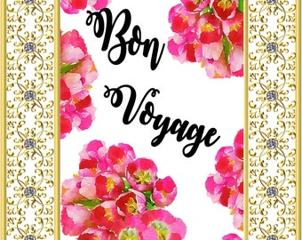 Bon Voyage banner~ French decor ~ french country ~ Printable wall art ~ french prints ~ Inspirational Print ~ French country wall decor