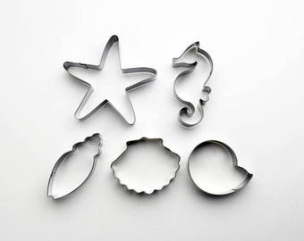 5pcs/Set Under The Sea Cookie Cutter - Fondant Biscuit Mold - Pastry Baking Tool Set