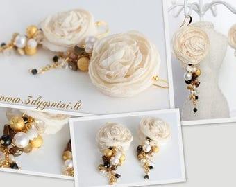 Creamy color earrings 2081
