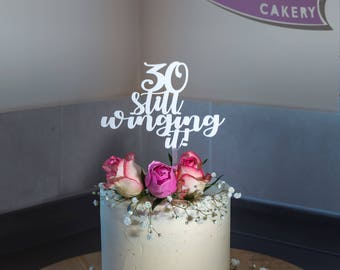 Winging it Cake Topper