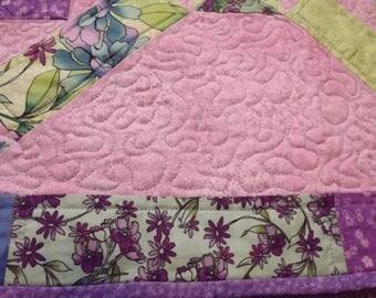 Cotton Candy - Pink & Purple Lap Quilt