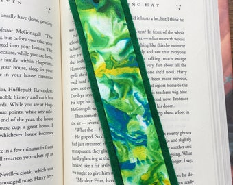Marbled Bookmark with Tassel
