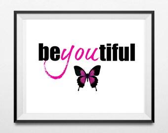 Beyoutiful Instant Download Digital Printable Bedroom Wall Art