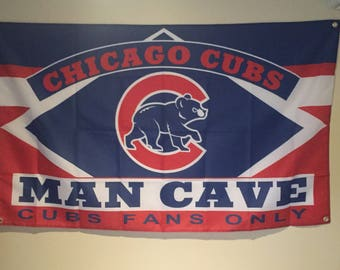 Chicago Cubs Man Cave Wall Flag