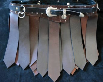 Roman Style Leather Kilt