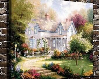 Home is where the art is, Thomas Kinkade Canvas Art
