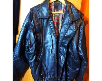 Luxe oversize soft leather moto style jacket