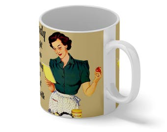 Wedding Gift Mug-Good Housewife Guide 1950- Vintage Retro Mug Novelty