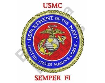 Military - Machine Embroidery Design, USMC Semper Fi