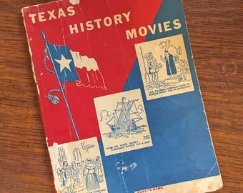 Authentic 1954 'Texas History Movies' book