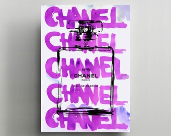 Canvas Wall Art, Gallery Wrapped, Interior Decoration, Modern Art  - 'Luxe Graffiti'.