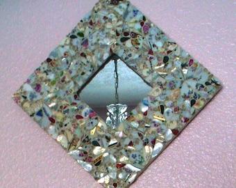 Snow Petals, China Mosaic Mirror