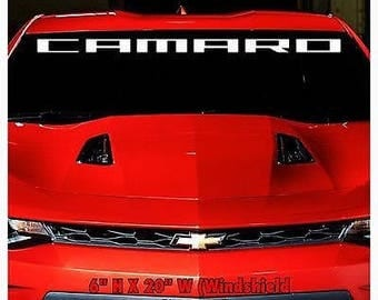 1950-2017 Chevrolet Camaro Z28 SS Windshield Body Decal New 1PC