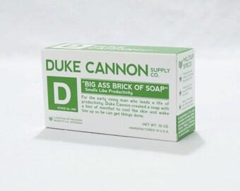 Duke Cannon Big Ass Brick of Soap White Bar Smells Like Productivity