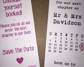 Save the Date Bookmarks Personalised STD Wedding (Pack of 6)