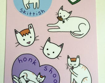 Hey Pais stickers, 4x6 sheet of seven stickers