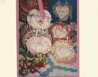 SHEPHERDS BUSH Folio Five - Vintage Cross Stitch Pattern with Door Hearts - Never Used Pattern