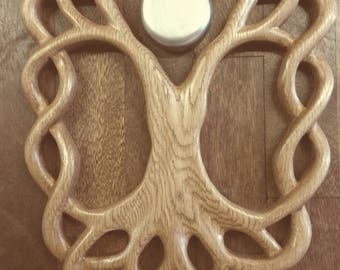 Celtic Knot Tree With Full Moon Wall Hanging