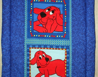 Clifford the Big Red Dog Panel Quilt baby blanket comforter cotton toddler