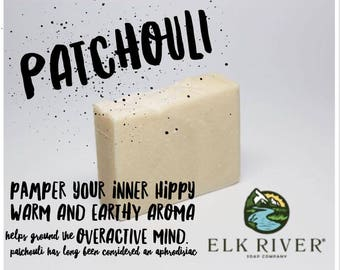 FREE SHIPPING Patchouli Handmade Soap