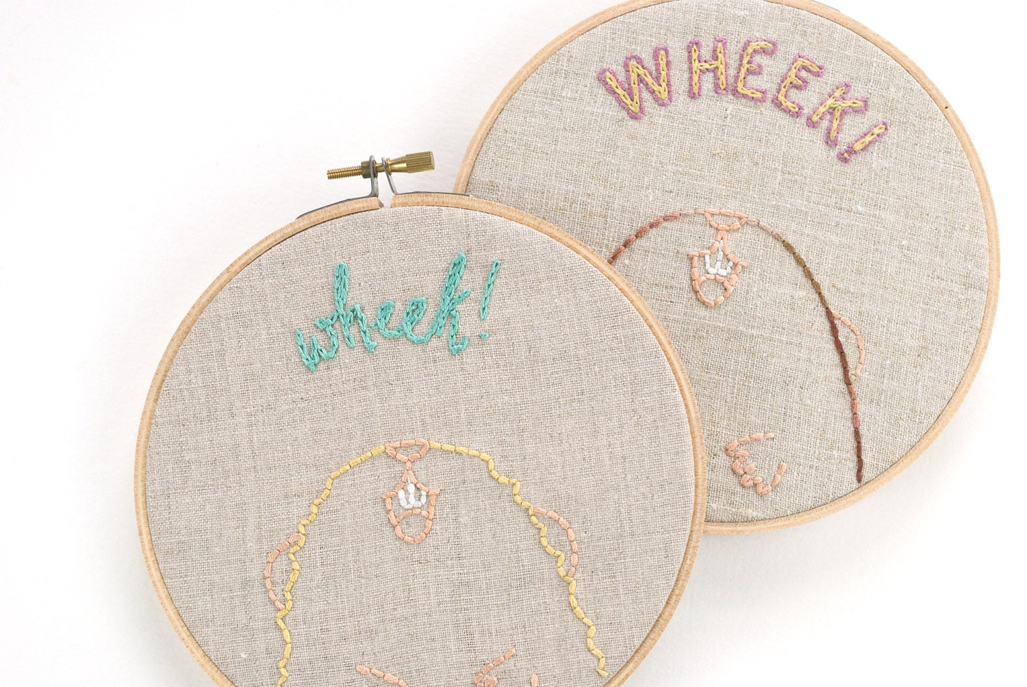 Wheek guinea pig or cavy mini hand embroidery pattern