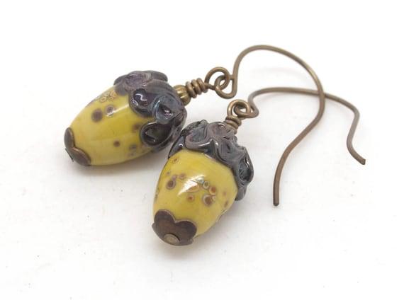 Acorn Earrings.